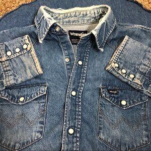 Vintage Distressed Wrangler Western Shirt X-Long